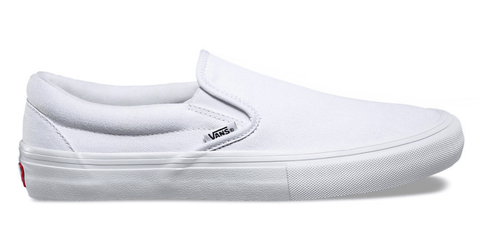 VANS SLIP-ON PRO WHITE SHOES