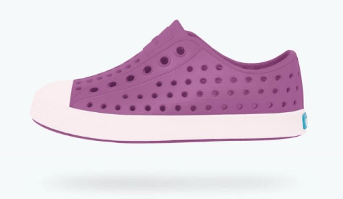 NATIVE JEFFERSON CHILD PEACE PURPLE/MILK PINK SHOES