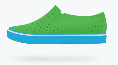 NATIVE MILES CHILD RIDDLE GREEN/SURFER BLUE SHOES