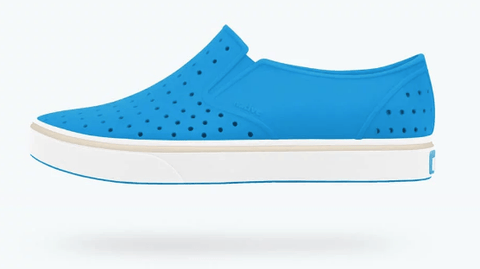 NATIVE MILES JUNIOR WAVE BLUE/SHELL WHITE SHOES
