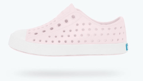 NATIVE JEFFERSON CHILD MILK PINK/SHELL WHITE SHOES