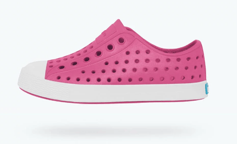 NATIVE JEFFERSON JUNIOR HOLLYWOOD PINK/SHELL WHITE SHOES