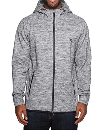 RIP CURL MENS MIDNIGHT RUN ANTI SERIES ZIP HOODY