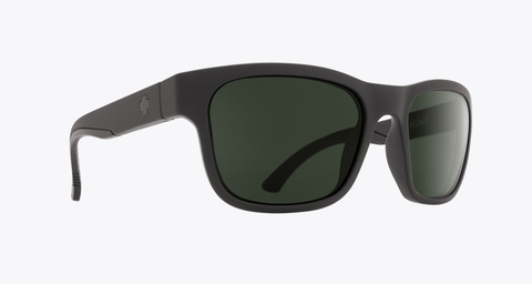 SPY HUNT MATTE BLACK FRAME WITH HAPPY GREY GREEN LENS SUNGLASSES