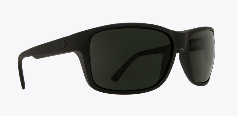SPY ARCYLON MATTE BLACK FRAME WITH HAPPY GREY GREEN POLARIZED LENS SUNGLASSES