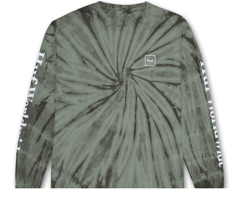 HUF MENS DOMESTIC TIEDYE L/S TEE