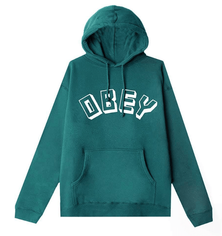 OBEY MENS OBEY NEW WORLD BASIC PULLOVER HOODY