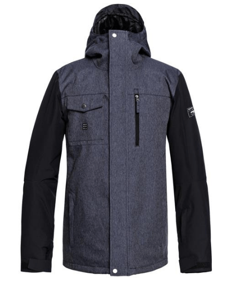 QUIKSILVER MENS MISSION DENIM SNOW JACKET 2019