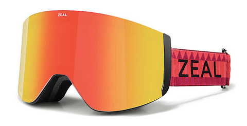 ZEAL HATCHET RED ROCKS FRAME WITH PHOENIX MIRROR + SKY BLUE MIRROR LENS SNOW GOGGLES 2019