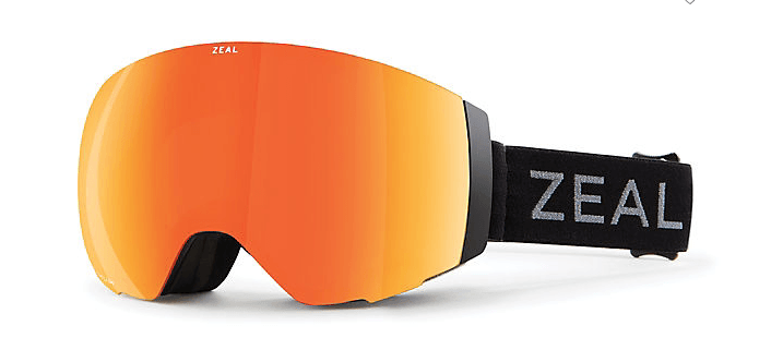 ZEAL PORTAL DARK NIGHT FRAME WITH PHOENIX MIRROR + SKY BLUE MIRROR LENS SNOW GOGGLES 2019