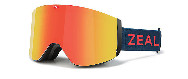 ZEAL HATCHET AMERICANA FRAME WITH POLARIZED PHOENIX + SKY BLUE MIRROR LENS GOGGLES 2019