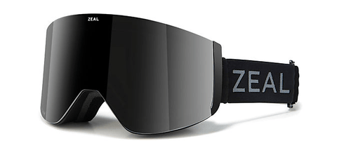 ZEAL HATCHET DARK NIGHT FRAME WITH POLARIZED AUTOMATIC GREY BASE + SKY BLUE MIRROR LENS SNOW GOGGLES 2019