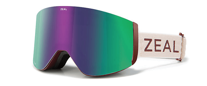 ZEAL HATCHET MAROON BELLS FRAME WITH JADE MIRROR +SKY BUE MIRROR LENS SNOW GOOGLES 2019