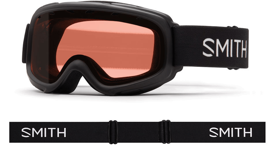 SMITH GAMBLER JR BLACK FRAME WITH RC36 LENS SNOW GOGGLES 2019