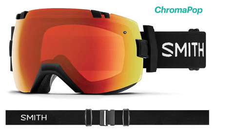 SMITH I/OX ASIAN FIT BLACK FRAME WITH CHROMAPOP EVERYDAY RED MIRROR+CHROMAPOP STORM LENS SNOW GOGGLES 2019
