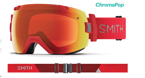 SMITH I/OX RISE FRAME WITH CHROMAPOP EVERYDAY RED MIRROR+CHROMAPOP STORM LENS SNOW GOGGLES 2019