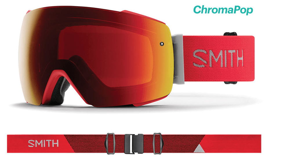SMITH I/O MAG RISE FRAME WITH CHROMAPOP SUN RED MIRROR+CHROMAPOP STORM ROSE FLASH LENS SNOW GOGGLES 2019