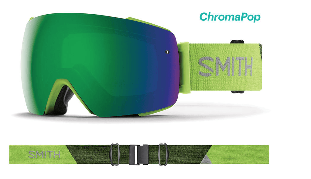 SMITH I/O MAG FLASH FRAME WITH CHROMAPOP SUN GREEN MIRROR+CHROMAPOP STORM ROSE FLASH LENS SNOW GOGGLES 2019