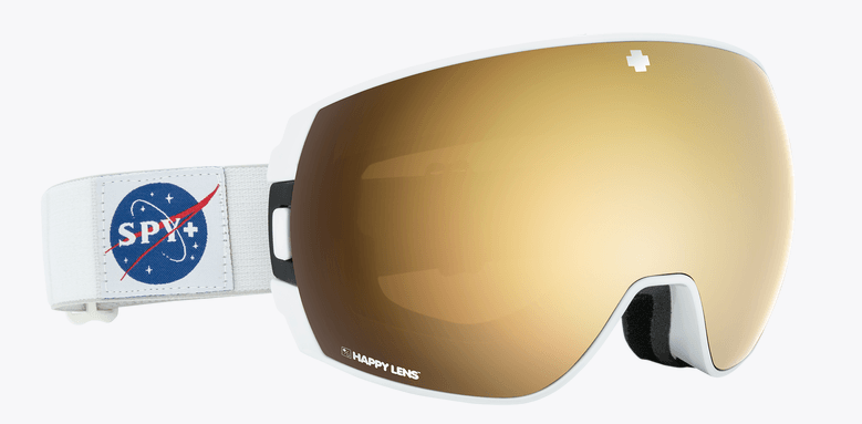 SPY LEGACY SPACE FRAME WITH HAPPY BRONZE/GOLD SPECTRA+HAPPY PERSIMMON/LUCID SILVER LENS SNOW GOGGLES 2019