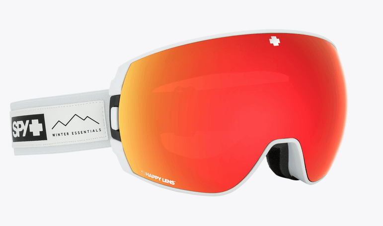 SPY LEGACY ESSENTIAL WHITE FRAME WITH HAPPY GREY GREEN/RED SPECTRA+HAPPY YELLOW/LUCID GREEN SNOW GOGGLES 2019
