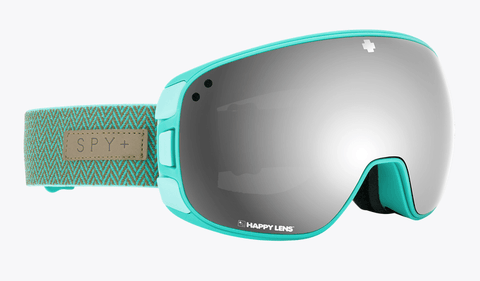 SPY BRAVO HERRINGBONE MINT FRAME WITH HAPPY GREY GREEN/SILVER SPECTRA+HAPPY YELLOW/LUCID GREEN LENS SNOW GOGGLES 2019