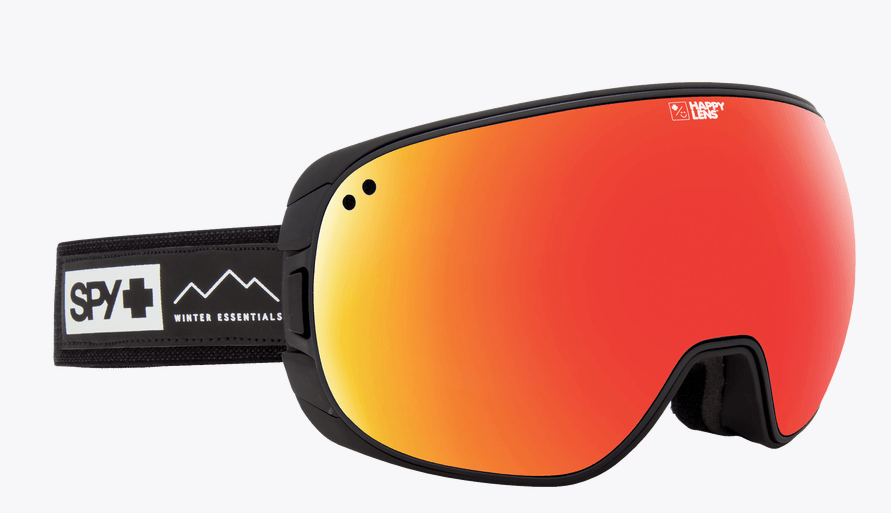 SPY BRAVO ESSENTIAL BLACK FRAME WITH HAPPY GREY GREEN/RED SPECTRA+HAPPY YELLOW/LUCID GREEN LENS SNOW GOGGLES 2019