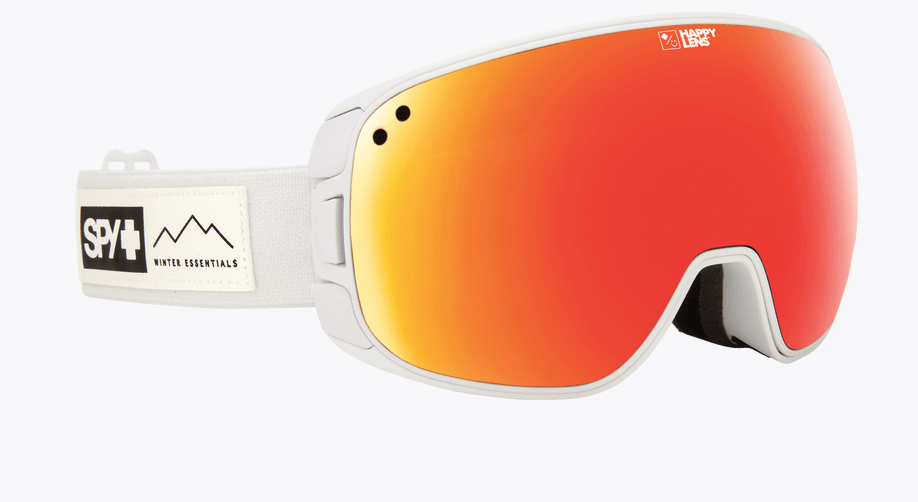 SPY BRAVO ESSENTIAL WHITE FRAME WITH HAPPY GREY GREEN/RED SPECTRA+HAPPY YELLOW/LUCID GREEN LENS SNOW GOGGLES 2019