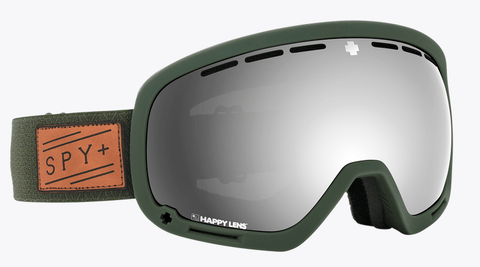 SPY MARSHALL HERRINGBONE OLIVE FRAME WITH HAPPY GREY GREEN/SILVER SPECTRA+HAPPY YELLOW/LUCID GREEN LENS SNOW GOGGLES 2019
