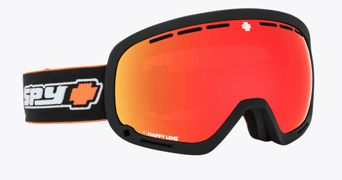 SPY MARSHALL OLD SCHOOL BLACK FRAME WITH HAPPY GREY GREEN/RED SPECTRA+HAPPY PERSIMMON/LUCID SILVER LENS SNOW GOGGLES 2019