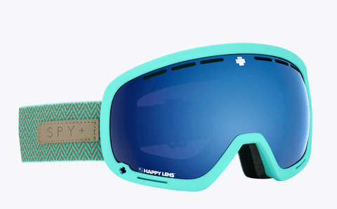 SPY MARSHALL HERRINGBONE MINT FRAME WITH HAPPY ROSE/DARK BLUE SPECTRA+HAPPY LIGHT GREY GREEN/LUCID RED LENS SNOW GOGGLES 2019