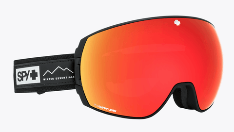 SPY LEGACY ESSENTIAL BLACK FRAME WITH HAPPY GREY GREEN/RED SPECTRA+HAPPY YELLOW/LUCID GREEN LENS SNOW GOGGLES 2019