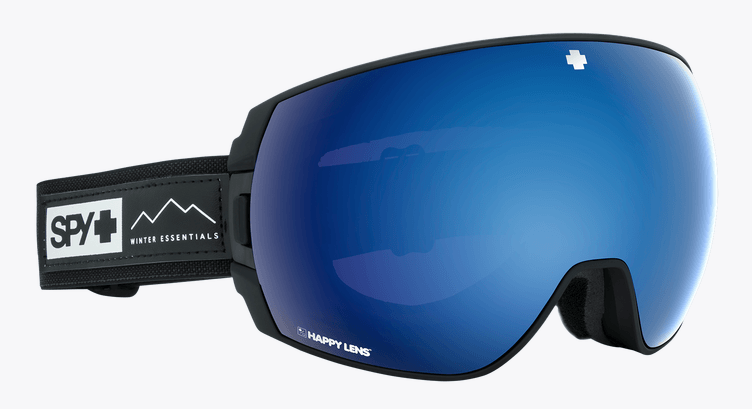SPY LEGACY ESSENTIAL BLACK FRAME WITH HAPPY ROSE/DARK BLUE SPECTRA+HAPPY LIGHT GREY GREEN/LUCID RED LENS SNOW GOGGLES 2019