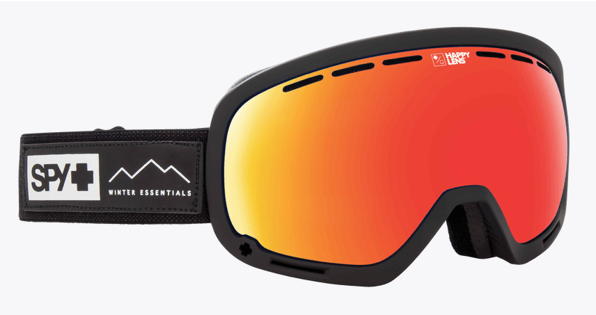 SPY MARSHALL ESSENTIAL BLACK FRAME WITH HAPPY GREY GREEN/RED SPECTRA+HAPPY YELLOW/LUCID GREEN LENS SNOW GOGGLES 2019