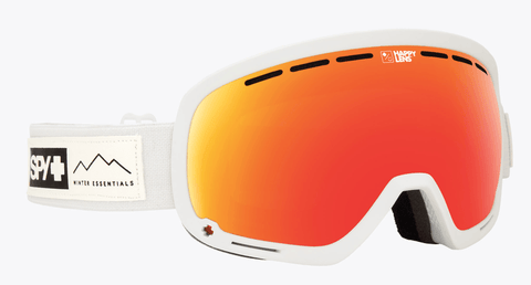 SPY MARSHALL ESSENTIAL WHITE FRAME WITH HAPPY GREY GREEN/RED SPECTRA+HAPPY YELLOW/LUCID GREEN LENS SNOW GOGGLES 2019