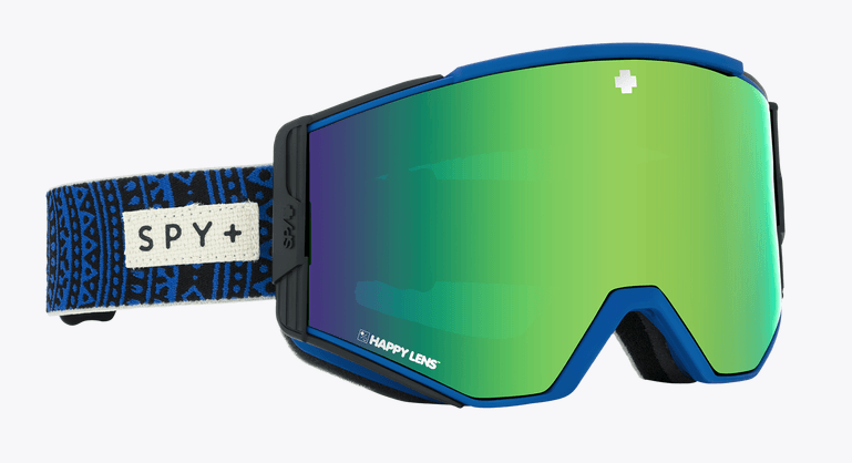 SPY ACE PHIL CASABON FRAME WITH HAPPY BRONZE/GREEN SPECTRA+HAPPY PERSIMMON/LUCID SILVER LENS SNOW GOGGLES 2019