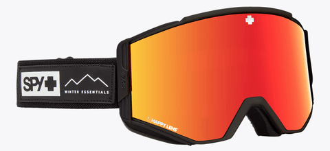 SPY ACE ESSENTIAL BLACK FRAME WITH HAPPY GREY GREEN/RED SPECTRA+HAPPY YELLOW/LUCID GREEN LENS SNOW GOGGLES 2019