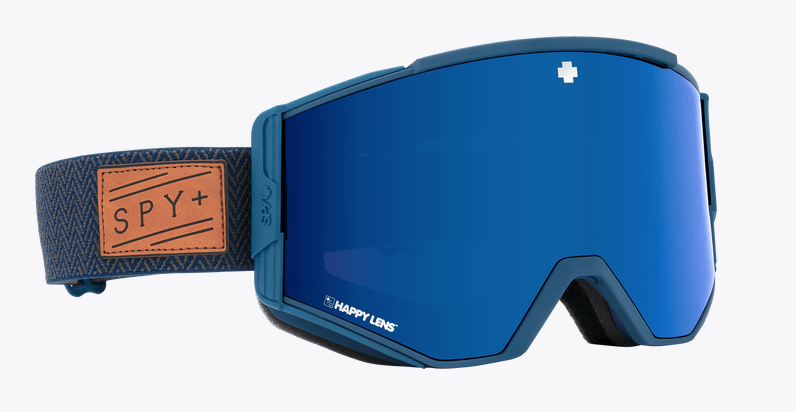 SPY ACE HERRINGBONE NAVY FRAME WITH HAPPY ROSE/DARK BLUE SPECTRA+HAPPY LIGHT GREY GREEN/LUCID RED SNOW GOGGLES 2019