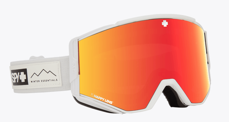 SPY ACE ESSENTIAL WHITE FRAME WITH HAPPY GREY GREEN/RED SPECTRA+HAPPY YELLOW/LUCID GREEN LENS SNOW GOGGLES 2019