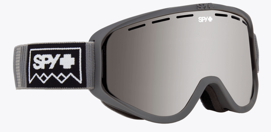 SPY WOOT DEEP WINTER GREY FRAME WITH BRONZE/SILVER SPECTRA+PERSIMMON LENS SNOW GOGGLES 2019