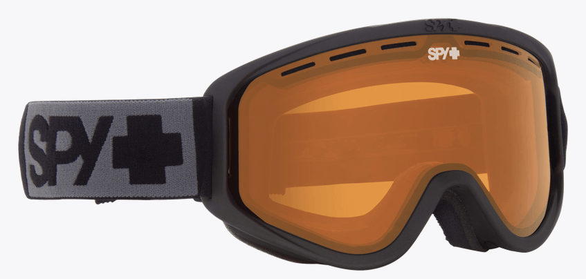 SPY WOOT MATTE BLACK FRAME WITH PERSIMMON LENS SNOW GOGGLES 2019