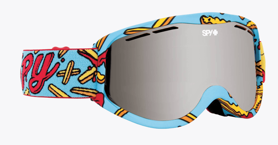 9478d6dcea76 SPY CADET PIZZA VS FRENCH FRIES FRAME WITH PERSIMMON LENS SNOW GOGGLES –  Coastal Riders