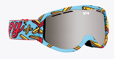 SPY CADET PIZZA VS FRENCH FRIES FRAME WITH PERSIMMON LENS SNOW GOGGLES 2019