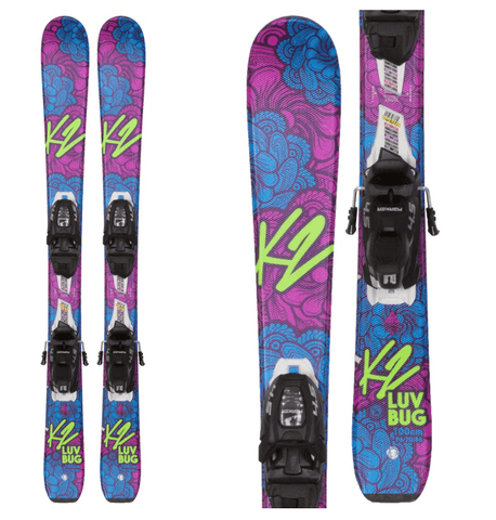 K2 GIRLS LUV BUG SKIS + MARKER FDT 4.5 SKI BINDINGS 2019