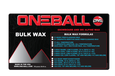 ONEBALL BULK F-1 ALL TEMP WAX 750G
