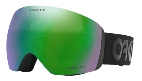 OAKLEY FLIGHT DECK ASIAN FIT FACTORY PILOT BLACKOUT FRAME WITH PRIZM JADE IRIDIUM LENS SNOW GOGGLES 2019