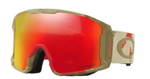 OAKLEY LINE MINER CARLSON RAZOR CAMO RED FRAME WITH PRIZM TORCH IRIDIUM LENS SNOW GOGGLES 2019