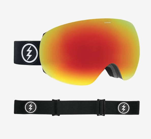 ELECTRIC EG3 MATTE BLACK FRAME WITH BROSE/RED CHROME+PINK LENS SNOW GOGGLES 2019
