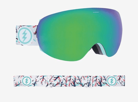 ELECTRIC EG3.5 FOREST FRAME WITH BROSE/GREEN CHROME LENS SNOW GOGGLES 2019