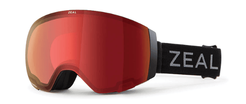 ZEAL PORTAL DARK NIGHT FRAME WITH AUTOMATIC RB + SKY BLUE MIRROR LENS SNOW GOGGLES 2019