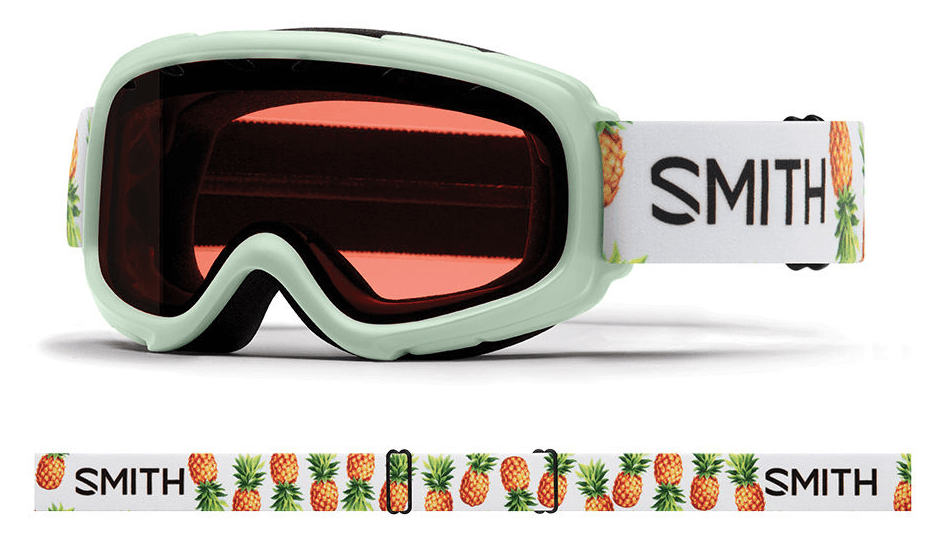 SMITH GAMBLER JR ICE PINEAPPLES FRAME WITH RC36 LENS SNOW GOGGLES 2019